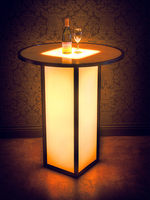 36 Inch Round Highboy Cocktail Table LED Battery Operated Ulttimate Portalbe Bars