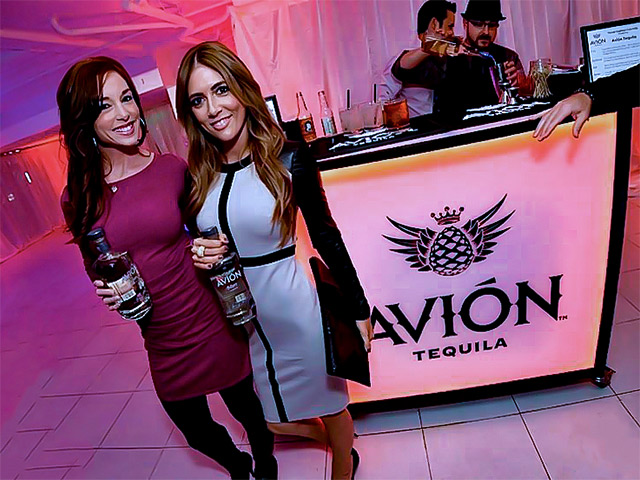 Avion Tequilla Ultimate Portable Mobile Beverage Catering Event LED Light Up Banquet Convention Outdoor Bar on Wheels