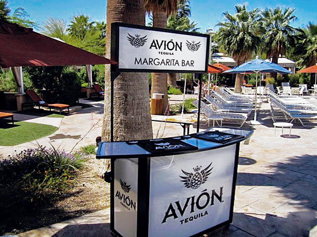 AvionTequila Ultimate Portable Mobil Bar Overhead Sign LED Graphics