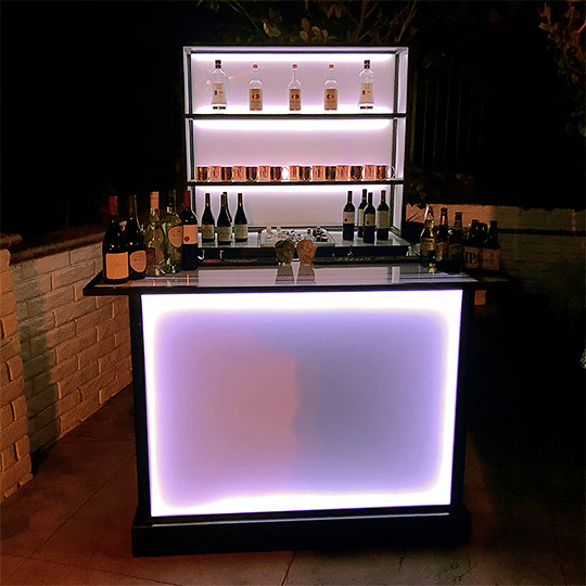 Back Bar and Back Bar Bottle Display Ultimate Portable Bar Company