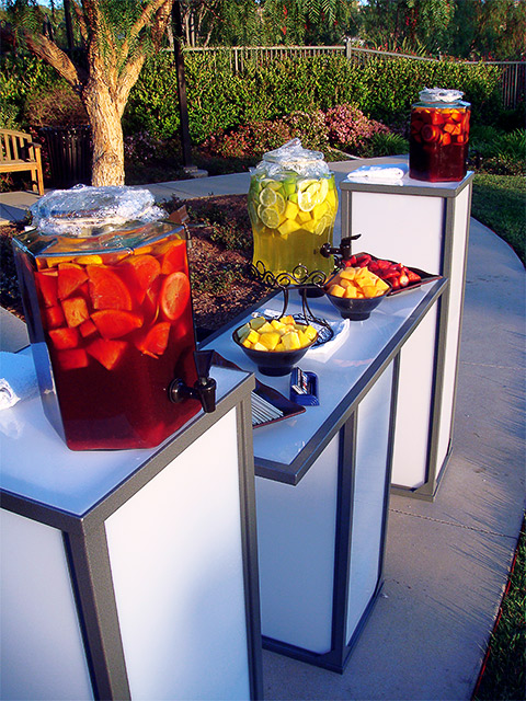 Beverage and Fruit Station for Bartending Company Ultimate Portable Bars