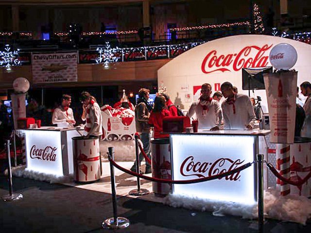 Coca Cola Ultimate Custom Portable Mobile Beverage Catering Event LED Light Up Holiday Banquet Bars