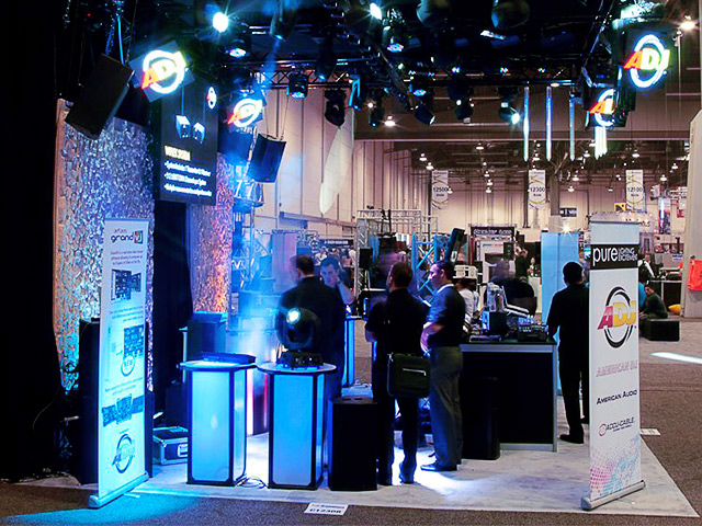 Cocktables Tables ADJ Booth Tradeshow LED Lightup Ultimate Bars
