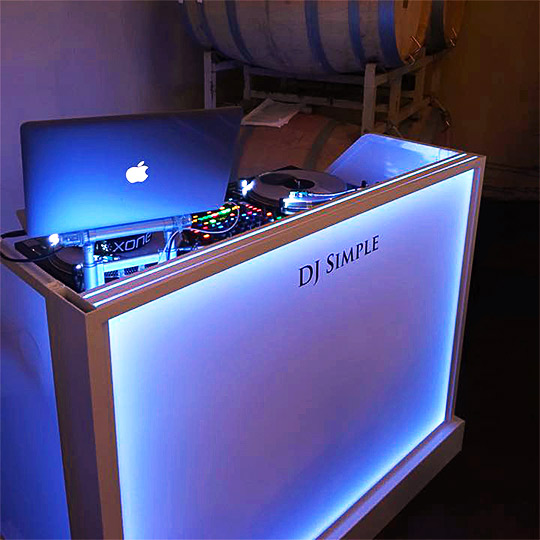 Convention DJ Ultimate Portable Mobile Music Booth LED Lights Music Concert Bar on Wheels