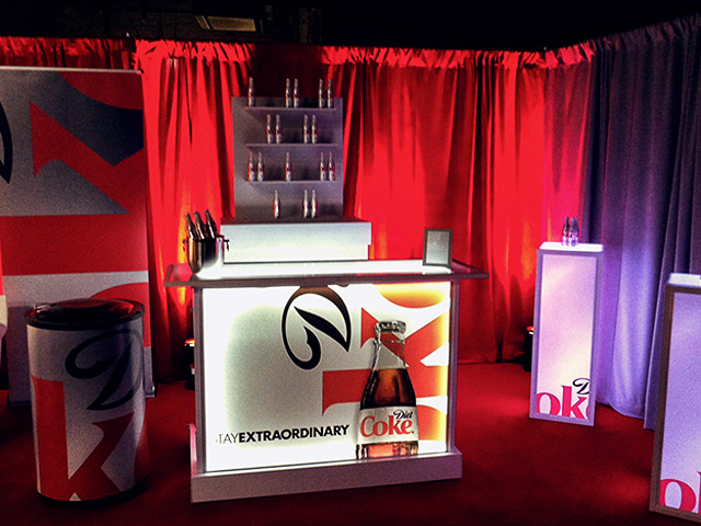 Diet Coke Cola Tradshow Ultimate Convetion Portable Mobile Beverage Catering Bar Logo Graphics Event Cubes