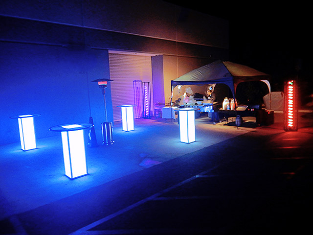 Light UP LEd Cubes for Highschool Party Outdoor Ultimate Bars
