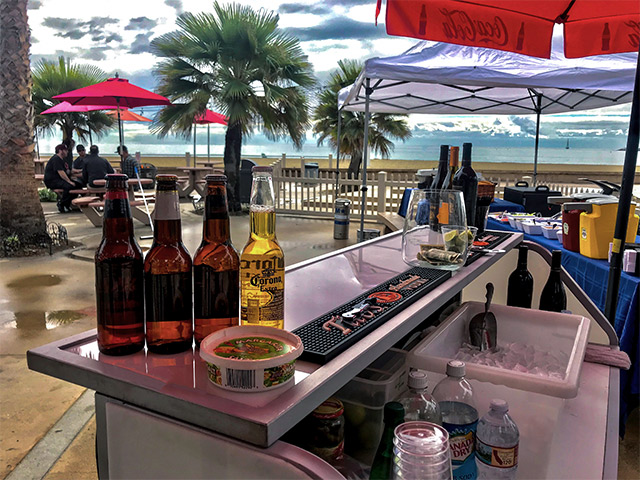 Outdoor Portable Beach Bar on Wheels Orange County Ultimate Bars
