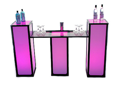 Porta Decor Ultimate Event Cube LED light Cocktail Modular Display Bar