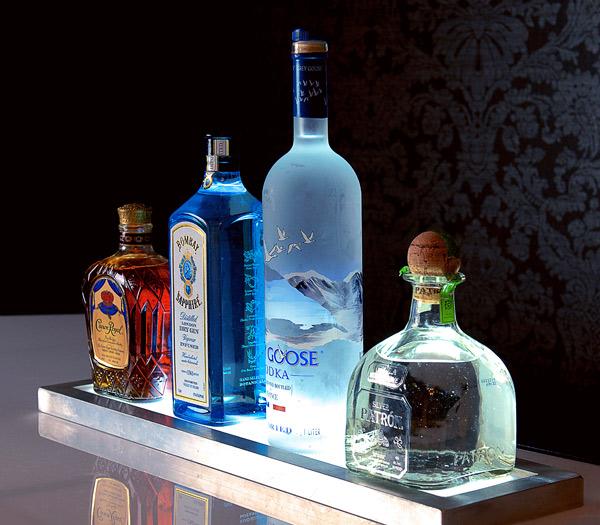 Ultimate Bar Liquor Bottle LED Lightup Display Back Bar Beverage Cocktail