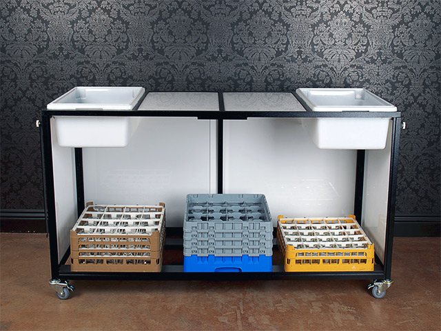 Ultimate Bars Folding Portable Back Bar Company Catering Hotel Banquet Bar on Wheels