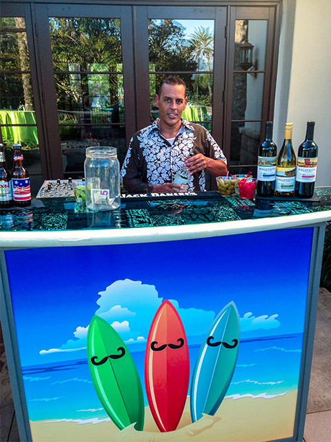 Ultimate Custom Portable Mobile Beverage Catering Event LED Light Up Banquet Bars Bartender Hawaiin Party Drinks