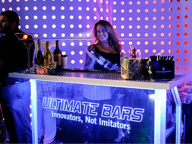 Ultimate Custom Portable Mobile Beverage Catering Event LED Light Up Banquet Bars Bartenders