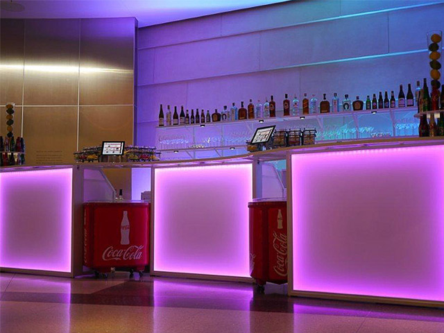 Ultimate Custom Portable Mobile Beverage Catering Event LED Light Up Banquet Bars Coca Cola