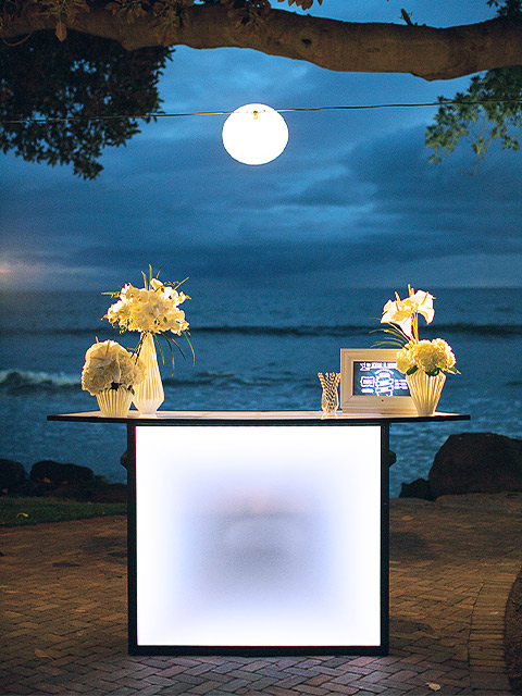 Ultimate Custom Portable Mobile Beverage Catering Event LED Light Up Banquet Bars Hawaii Outdoor Patio Folding