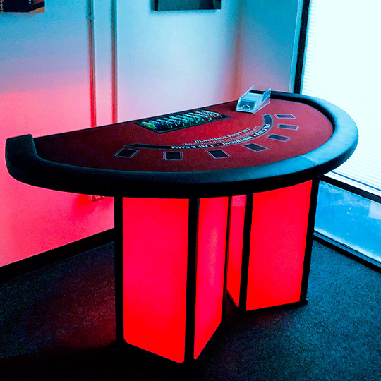 Ultimate Custom Portable Mobile LED Casino Tables