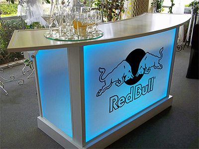 Ultimate Portable Bar Beverage Folding Branded Bars Logo