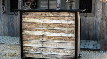 Ultimate Portable Beverage Bar Interchangeable Rustic Bar Panels