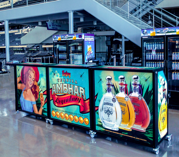 Ultimate Portable Mobile Beverage Catering Event Bars Interchangeable Graphics